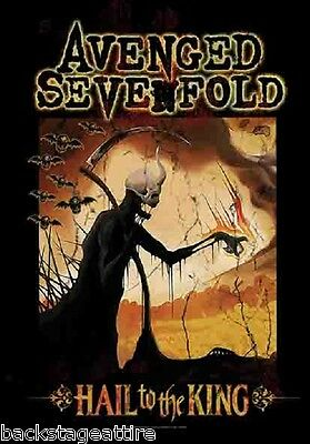 AVENGED SEVENFOLD A7X HAIL TO THE KING REAPER Fabric Wall Cloth Poster Flag-New!
