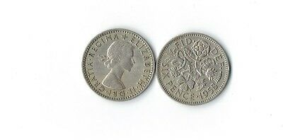 Lot Of 15 1958  British Wedding Sixpences  Queen Elizabeth Ii - Blowout Price