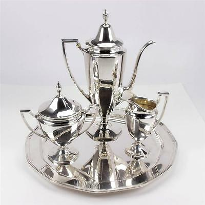 1930's TIFFANY & CO. MAKERS STERLING SILVER 5 PIECE TEA/COFFEE  SET