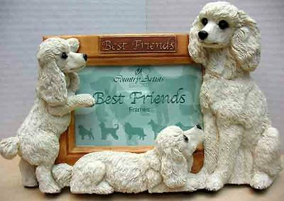 COUNTRY ARTISTS POODLES PHOTO FRAME,- ITEM 4422