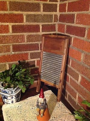 Vintage Junior Sized Washboard with No Manufacturers Name wood & Tin