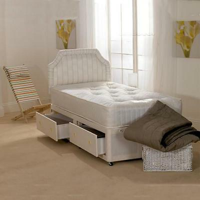 New - Deluxe Beds Chester Open Spring Divan Bed - Single/Double/King/S King