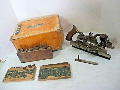 Vintage Antique Stanley Combination Plane No. 45  Woodworking Tool