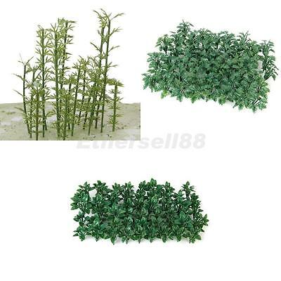 2x 50 Model Ground Cover Plant & 100 Bamboo Tree Architecture Train Scenery O HO