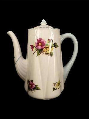 CH2412 SHELLEY BEGONIA DAINTY SHAPE 4 CUP COFFEE POT MINT CONDITION