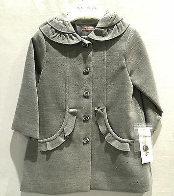 New Girls Classic Coat Tutto Piccolo Jacket 2538 Grey RRP £65