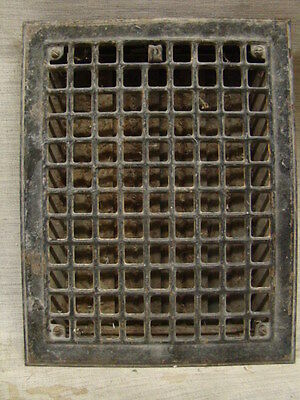 Vintage 1920S Iron Heating Grate Square Design 14 X 11 B
