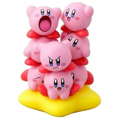 Kirby Figure Collection Ensky 10 pc Stackable Tsumu Tsumu Pvc Set and Warp Star