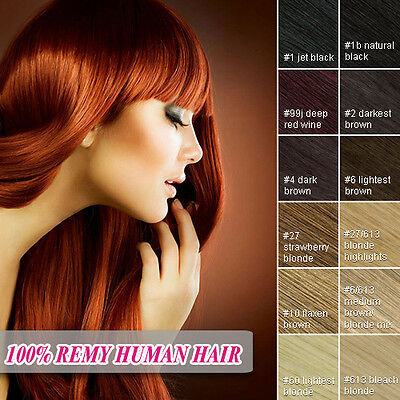 Clip in 100% Remy Human Hair Extensions Full Head UK 1st Delivery