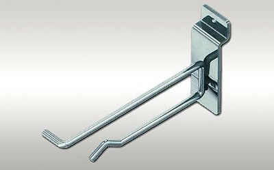 8 inch Slatwall Scanner Hook Retail Store Display Fixture Chrome Lot of 100 NEW