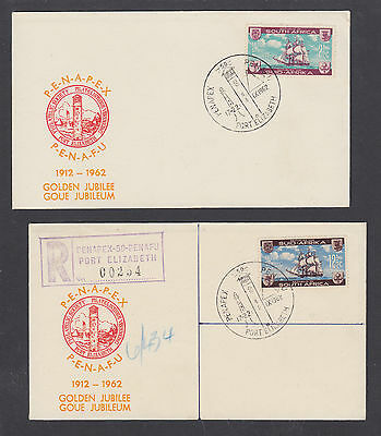 South Africa Sc 282-283 1962 Settlers Monument, cplt set on two PENAPEX covers.