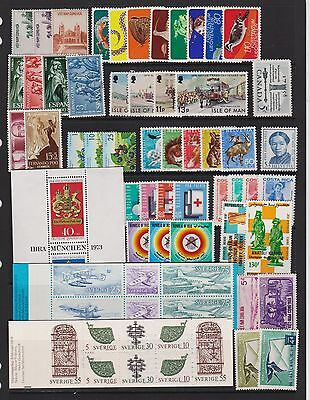 World Wide quality lot of 60 mint stamps - see scan