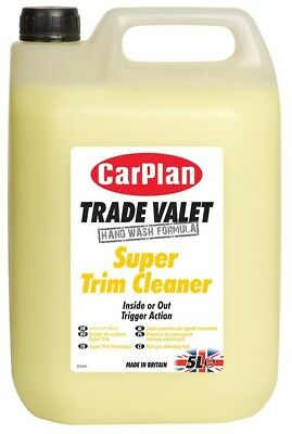 CarPlan Trade Super Trim Cleaner 5L Polish Plastic Rubber Interior Exterior Care