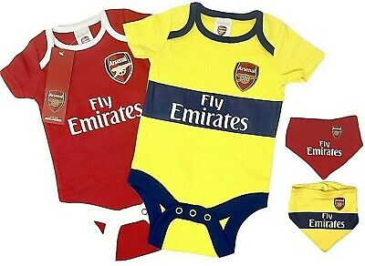 Arsenal Fc 2018 Official Babies Body Pram Suit Short Sleeve Baby Grow Vest Afc