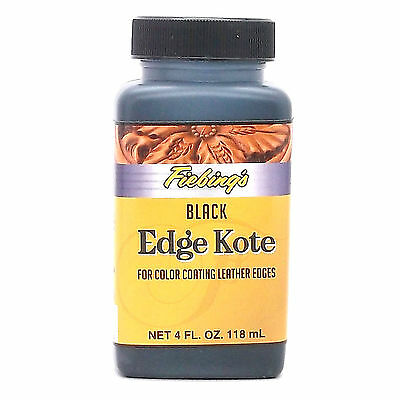 Black Edge Kote Leather Dye 4 oz. (118 ml) New 2225-01 Fiebing's