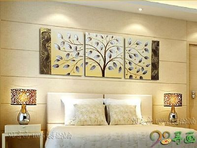 no Framed! Handmade Modern Wall Art Abstract Tree Oil Painting On Canvas