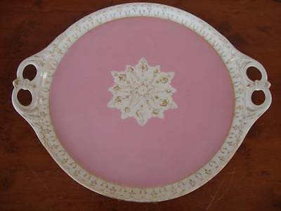 """STUNNING ANTIQUE FRENCH """"OLD PARIS"""" SEVRES  PORCELAIN TWO HANDLED TRAY.  C1850"""