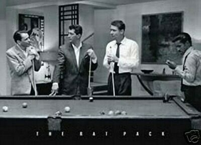 Sinatra - Rat Pack - Pool Room - Billiards - New Poster