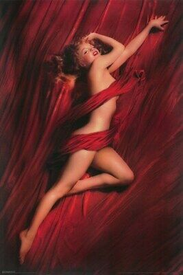 MARILYN MONROE POSTER Red Drapes RARE NEW 24x36