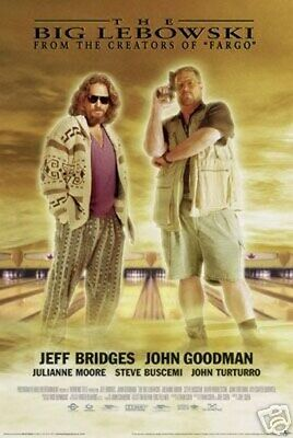 The Big Lebowski Movie Poster - Rare New 24X36 Print