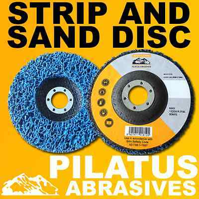 10 x 125MM POLY STRIPPING DISC WHEEL PAINT RUST REMOVE CLEAN METAL ANGLE GRINDER