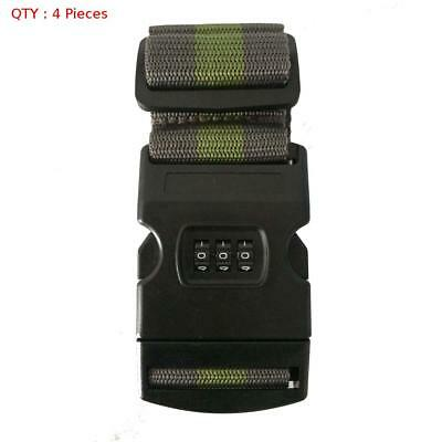 4X Brand New Travel Luggage Belt Packing Strap With Password Combination Lock