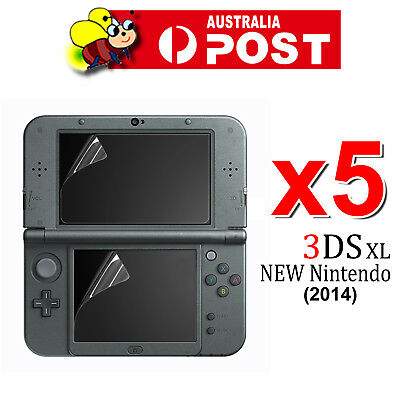 5x Set Top Bottom LCD Screen Protector Cover Film For New Nintendo 3DS XL/LL
