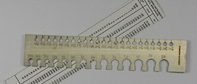 SWG wire measuring measure gauge millimetres 0-36 metal size sizing wires tool