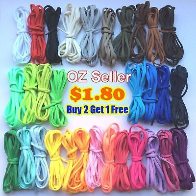 OZ Shoelaces Colorful Coloured Flat Fat Round Bootlace Sneaker shoe laces 120cm