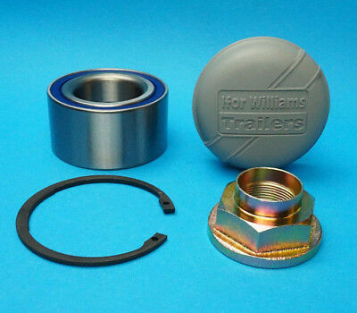JRM4249 - 76mm Sealed Wheel Bearing with Nut Cap & Circlip Ifor Williams Trailer