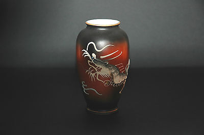 Vintage Japanese Moriage Dragonware hand painted Small Vase VGC