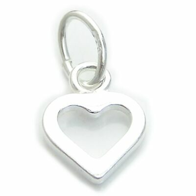 Tiny Heart sterling silver charm .925 x 1 Hearts and Love charms CI300220