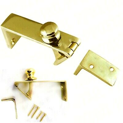 QUALITY SOLID BRASS COUNTER FLAP CATCH With SCREWS Bar Shop Holder Latch Lift Up
