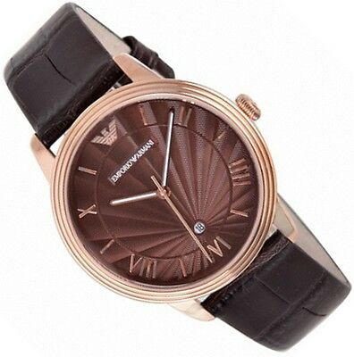 Emporio Armani Men's Watch Ar1613 Clasic Brown Dial - Brand New With Certificate
