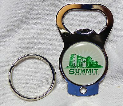 Summit Brewing Co - Key Chain - Bottle Opener - Metal - Green & White Logo - NEW