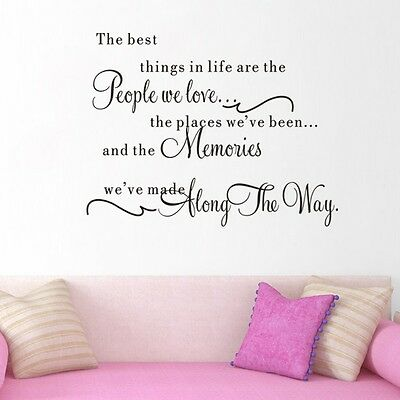 The Best thing in life Art Vinyl Wall Stickers Home Wall Decals Letters decor