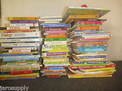 Lot of 100 Board Toddler Hardcover Picture Learn to Read DayCare Kid Books #257
