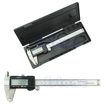 New Electronic Digital 6 inch 150mm LCD Caliper Vernier Guage Micrometer Steel