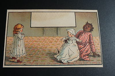 Black Americana Victorian 1800's Trade Card Lithograph Litho Advertising Babies