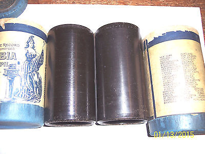 2 COLUMBIA 2m  CYLINDER PHONOGRAPH RECORDS #32734 + #32687