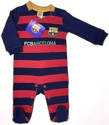 Fc Barcelona Fc 2016 Babies Pram Play Sleep Suit Baby Grow Bodysuit Fcb Barca