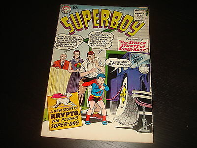 SUPERBOY #71  Silver Age Glossy! Krypto DC Comics 1959 Higher Grade  FN/VFN