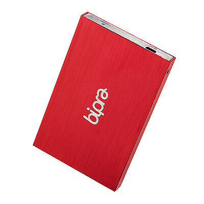 Bipra 320GB 2.5 inch USB 2.0 Mac Edition Slim External Hard Drive - Red