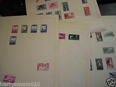 Ifni Spain stamp collection on 5 album pages all mint unused lightly hinged