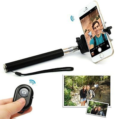 NEW MONOPOD STICK WITH BLUETOOTH REMOTE SHUTTER IPHONE SAMSUNG