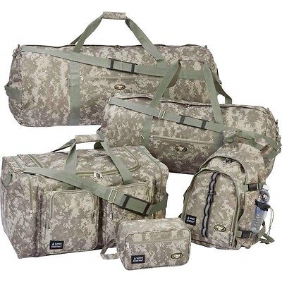 5pc WaterResistant Camo Luggage Travel Set Backpack Big Duffle Tote Toiletry Bag