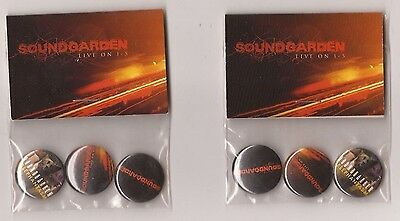 SOUNDGARDEN Live on I-5 - PROMO Pin Set x2 - Button Badge - NM (CD Vinyl Poster)