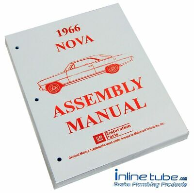 1966 Chevrolet Nova Chevy II 2  Factory Assembly Rebuild Instruction Manual Book