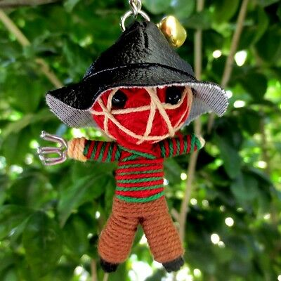 FREDDY KEY RING VOODOO GIFT FREE CHAIN DOLL ROPE STRING HORROR CRAFT TOY C#07