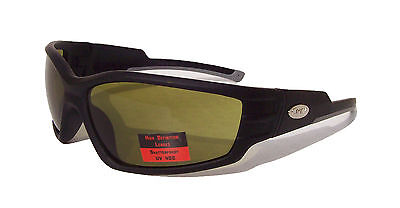CURV HIGH DEFINITION Motorcycle Riding Biker Eyewear with Green HD Lenses